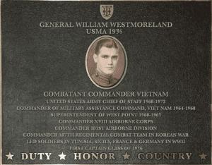 general westmoreland plaque