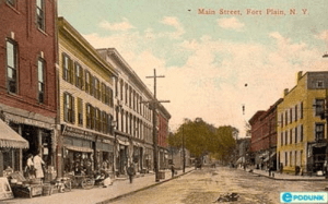 postcard depicting Main Street Fort Plain from the early 1900s