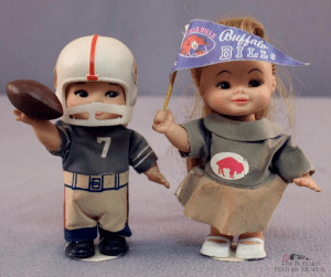 Buffalo Bills dolls provided by Bullfalo History Museum