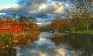 Camillus Sims Store on the Canal by Marcia Bower