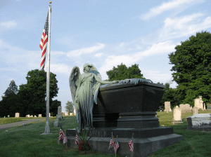 Grave of Chester Arthur at the Albany Rural Cemetery