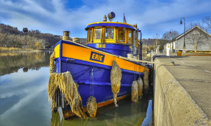 Little Falls Tugboat by Frank Forte