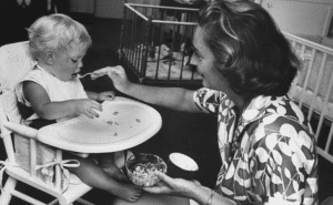Mary Rockefeller and child