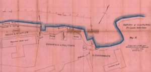 Survey of lands under water for Andrew Cornwall and Charles and John F Walton