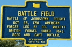 Johnstown Battle Field marker