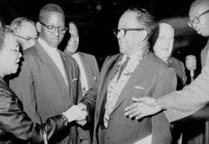Langston Hughes receiving the Spingarn Medal from the NAACP in 1946