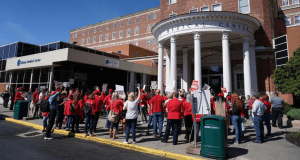 nurse union rally at albany med 2019