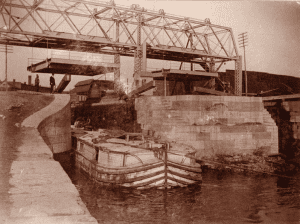 Erie Canal Lock in Albany in 1893