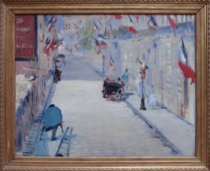 Manet La Rue Mosnier aux drapeaux