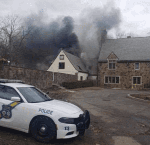 Palisades Interstate Police HQ and Court fire