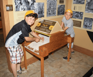 Tri-Valley students enjoying a hands on activity in the Museum exhibition