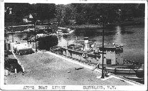 Tug at Cleveland Dock c1930 postcard