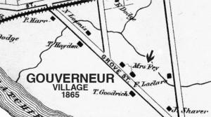Village of Gouverneur map 1865