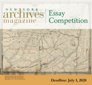 archives essay competiton