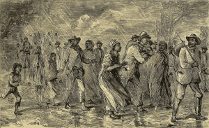 underground railroad illustration