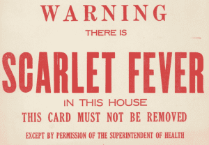 warning scarlet fever