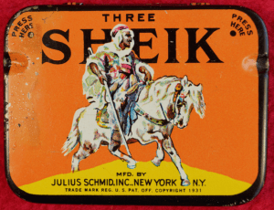 1931 tin of condoms produced by Julius Schmid