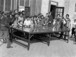 Children Playing Ping Pong in 1943 provided by NYC Parks