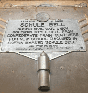 Schule Bell marker casting provided by Pomeroy Foundation