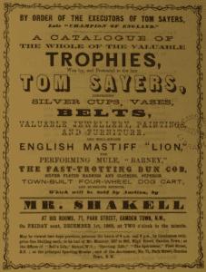 sale catalogue of Sayers trophys