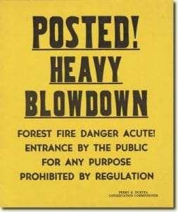 1950 heavy Blowdown Sign
