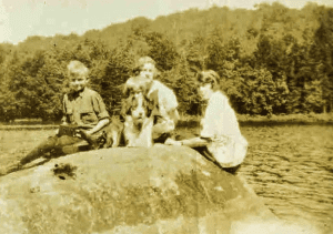 Betty Frank Bess Betsy on Twitchell Lakes Big Rock 1923