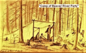 Colvin Sketch of Camp of Beaver River Party