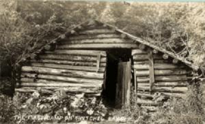 Hiram Burkes log shanty