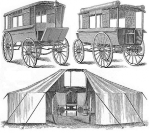 Moses Ambulance Wagon and Tent prototype