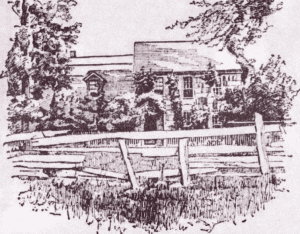 Pen and Ink Drawing of Odell House courtesy NY Tribune
