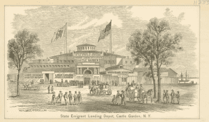 State Emigrant Landing Depot Castle Garden courtesy New York Public Library Digital Collections