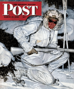 The Saturday Evening Post devoted its March 27 1943 cover to the ski troops