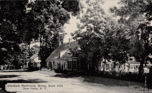 1950s postcard showing Hasbrouck House
