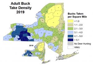 Adult Buck Take Density Map 2019