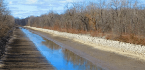 Erie Canal near Lyons April 2020