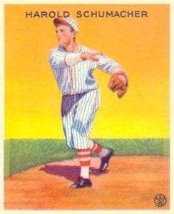 Harold Schumacher Goudey card