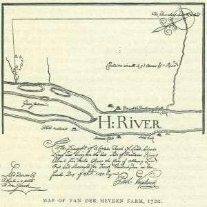 Map of Van Der Heyden Farm 1720