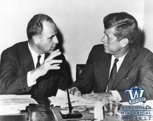 Wisconsin Governor Gaylord Nelson with President John F. Kennedy 1960 - Gaylord Nelson and Earth Day Collection - Wisconsin Historical Society