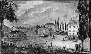 Ballston Springs – 1817 engraving by J Hill