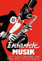 Nazis versus jazz decadent music poster