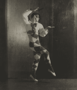 Nijinsky as Harlequin in Carnaval by Adolph de Meyer