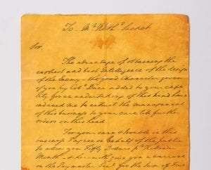 Sackett Letter from Washington