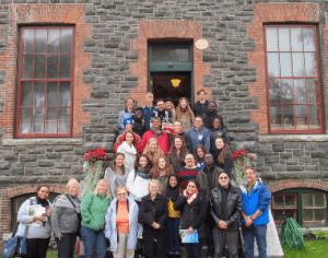 Students from the University of Albany School of Public Health visit the Saranac Laboratory Museum