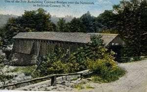 covered bridge over Neversink 1932