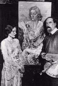 Augustus John Tallulah Bankhead with her portrait in 1929