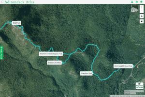 Bald Peak map