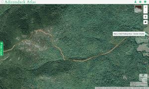 Blueberry Mountain map courtesy adirondack atlas
