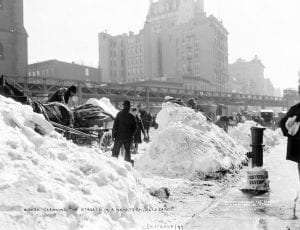Dumping Snow in the River to Clean Streets