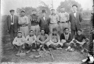 Early baseball team provided by Erie Canal Museum
