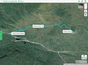 cobble lookout trail courtesy adirondack atlas